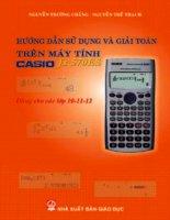 Tài liệu Hướng dẫn sử dụng và giải toán trên máy tính Casio fx 570ES ppt