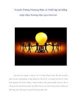 Tài liệu Truyền Thông Thương Hiệu và Thiết lập hệ thống nhận diện thương hiệu qua Internet doc