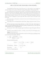 Tài liệu Rèn luyện để trở thành học sinh giỏi Hóa pptx