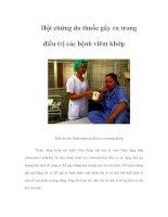 Tài liệu Hội chứng do thuốc gây ra trong điều trị các bệnh viêm khớp ppt