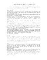 Tài liệu CÁCH CHĂM SÓC DA CHO BÉ YÊU pdf