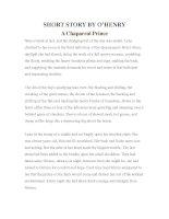 Tài liệu LUYỆN ĐỌC TIẾNG ANH QUA TÁC PHẨM VĂN HỌC-SHORT STORY BY O'HENRY- A Chaparral Prince pptx