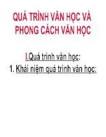 Gián án Qua trinh van hoc va phong cach van hoc