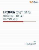 Tài liệu E-COMPANY (CÔNG TY ĐIỆN TỬ) MÔ HÌNH PHÁT TRIỂN CNTT CHO DOANH NGHIỆP docx