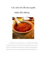 Tài liệu Các món ăn tốt cho người bệnh tiểu đường ppt