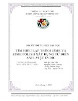 Tìm hiểu J2ME và J2ME polish xây dựng từ điển anh   việt evdic