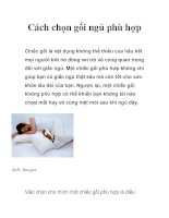 Tài liệu Cách chọn gối ngủ phù hợp ppt