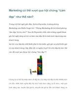 """Tài liệu Marketing có thể vượt qua hội chứng """"Làm đẹp"""" như thế nào? pdf"""