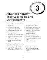 Tài liệu Advanced Network Theory: Bridging and LAN Switching pdf