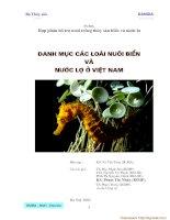 Tài liệu Danh mục các loại thủy sản nước lợ và nước mặn VN - Phần 1 doc