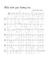 Tài liệu Bài hát bầu trời quê hương ta -Nguyễn Đức Quang (lời bài hát có nốt) pptx