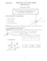Tài liệu Chuyên đề 15: Hình học giải tích trong không gian ppt