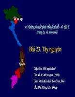 Bài giảng Bài 37: Vấn đề khai thác thế mạnh ở Tây Nguyên - Địa 12