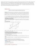 Tài liệu Giải toán bằng phương pháp vecto pdf