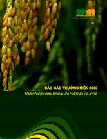 Tài liệu BÁO CÁO THƯỜNG NIÊN 2008 TỔNG CÔNG TY PHÂN BÓN VÀ HÓA CHẤT DẦU KHÍ - CTCP ppt