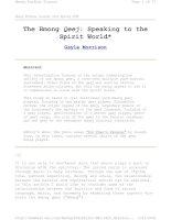 Tài liệu Speaking to the Spirit World doc