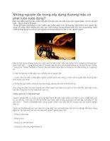 Tài liệu Những nguyên tắc trong xây dựng thương hiệu doc