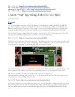 Bài giảng Hoc Tieng Anh tren youtube