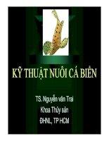 Tài liệu Kĩ thuật nuôi cá biển - TS. Nguyễn văn Trai doc