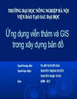Tài liệu Ứng dụng viễn thám và GIS trong xây dựng bản đồ doc