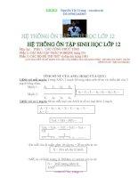 Tài liệu Hệ thống ôn tập sinh học 12 bộ đề thi và trắc nghiệm ppt