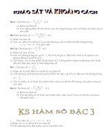 Tài liệu KHẢO SÁT HÀM SỐ và bài toán liên quan pdf