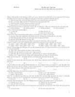 Tài liệu Đề thi trắc nghiệm môn Sinh học 43 Khoa Tự Nhiên docx
