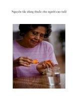 Tài liệu Nguyên tắc dùng thuốc cho người cao tuổi pdf