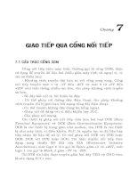Tài liệu Đo lường và điều khiển bằng máy tính .chương 7 ppt