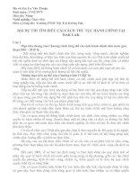 Gián án Cai cach hanh chinh tai Dak Lak