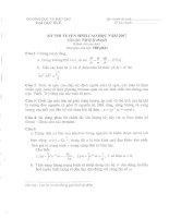 Tài liệu Kỳ thi tuyển sinh sau đại học năm 2007 - Môn: Vật lý lý thuyết ppt