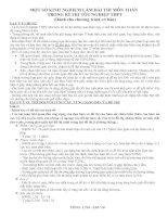 Tài liệu KINH NGHIỆM LÀM BÀI THI TN THPT TOÁN - NGÔ TRỌNG HIẾU