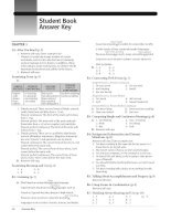 Tài liệu Student book answer key pdf