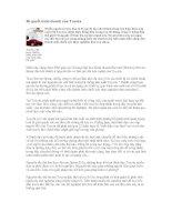 Tài liệu Bí quyết kinh doanh của Toyota ppt