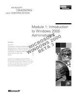 Tài liệu Module 1: Introduction to Windows 2000 Administration pdf