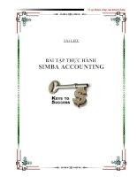 Tài liệu Bài tập thực hành Simba Accounting docx