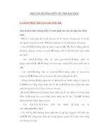 Tài liệu MỘT SỐ HƯỚNG DẪN ÔN THI ĐẠI HỌC ( phần 1) ppt