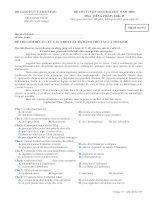 Tài liệu BỘ GIÁO DỤC VÀ ĐÀO TẠO ĐỀ CHÍNH THỨC ĐỀ THI TUYỂN SINH ĐẠI HỌC NĂM 2009 Môn: TIẾNG PHÁP Mã đề thi 937 pdf