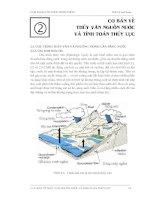 Tài liệu Cơ bản về thuỷ văn nguồn nước và tính toán thuỷ lực pdf