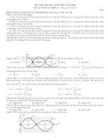 Tài liệu Đề thi Vật lý khối A - đề số 2 pdf