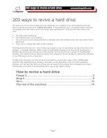 Tài liệu 200 ways to revive a hard drive ppt