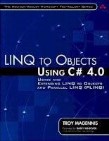 Tài liệu LINQ TO OBJECTS - USING C# 4.0 docx