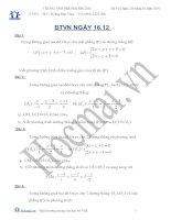 Tài liệu BTVN ngày 16.12 hình học không gian (Bài tập và hướng dẫn giải) pptx