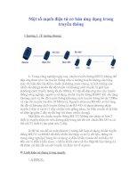 Tài liệu Một số mạch điện tử cơ bản ứng dụng trong truyền thông Chương 1 doc