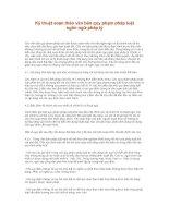Tài liệu Kỹ thuật soạn thảo văn bản quy phạm pháp luật ngôn ngữ pháp lý ppt