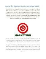 Tài liệu Bảy sai lầm Marketing cần tránh trong ngày nghỉ lễ docx