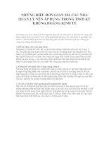 Tài liệu NHỮNG ĐIỀU ĐƠN GIẢN MÀ CÁC NHÀ QUẢN LÝ NÊN ÁP DỤNG TRONG THỜI KỲ KHỦNG HOẢNG KINH TẾ doc