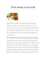 Tài liệu Dinh dưỡng người bệnh pdf
