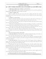 Tài liệu Chương mở đầu Cơ học kết cấu I ppt