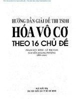 103 huong dan giai de thi tuyen sinh dai hoc hoa vo co theo 16 chu de